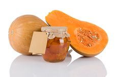 Free Jar With Sweet Of Pumkins Stock Photos - 18056063