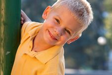 Free Smiling Little Boy Stock Images - 18056194