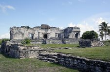 Free Ruins At Tulum Mexico 2 Royalty Free Stock Image - 18057386