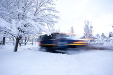 Free Moving Snowplow Stock Image - 18057641
