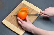 Free Slicing Orange Stock Photo - 18057970