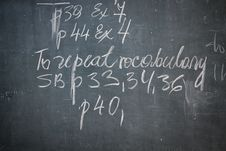 Blackboard Royalty Free Stock Photography