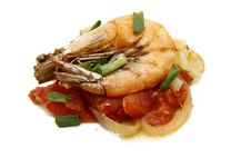 Free Prawn With Tomato Sauce Stock Images - 18059234