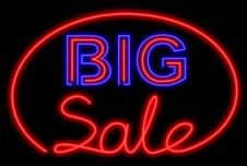 Free Big Sale Neon Royalty Free Stock Image - 18059466