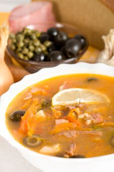 Free Soup From Meat And Vegetables Royalty Free Stock Image - 18059616