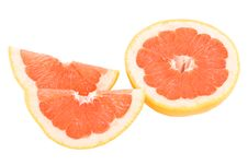 Free Peaces Of Red Grapefruit Royalty Free Stock Photo - 18059685