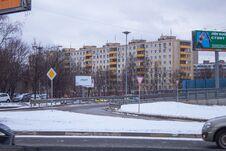 Sacco And Vanzetti Street Of New Podlipki District To Korolyov City. Royalty Free Stock Photo