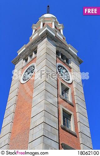Free Tsim Sha Tsui Clock Tower Stock Photo - 18062100