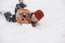 Free Boy Having Great Fun In Snow Royalty Free Stock Photo - 18060075