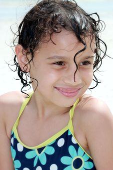 Child At Beach Stock Photo