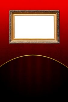 Free Vintage Frame On Dark Red Background Stock Photography - 18060862