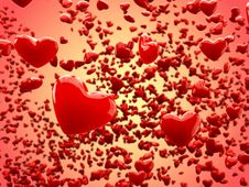 Free Glossy Hearts Abstract Background (Depth Of Field) Stock Images - 18061304