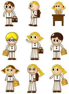 Free Cartoon Student Icon Stock Images - 18061404