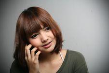 Free Girl & Mobile Phone Stock Photos - 18061523