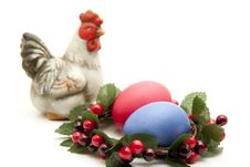 Free Colored Eggs In The Wreath Royalty Free Stock Images - 18061979