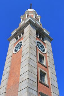 Tsim Sha Tsui Clock Tower Stock Photo