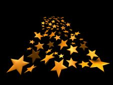 Free Stars On Black Background Stock Photo - 18062350