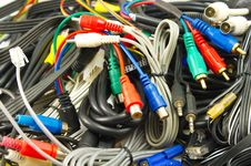 Free The Cables And Wires Are  Piled Royalty Free Stock Photography - 18062697