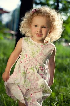 Free Sweet Curly Girl. Royalty Free Stock Photos - 18062808