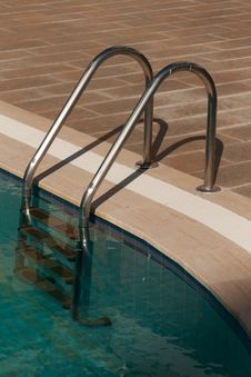 Free Staircase From The Pool Stock Photos - 18062983