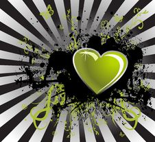 Free Black Stain And Green Heart Royalty Free Stock Photography - 18069327