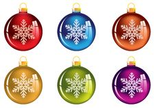 Free Set Of Transparent Christmas Tree Decorations Stock Images - 18069544