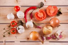 Mix Of Vegetables Royalty Free Stock Image