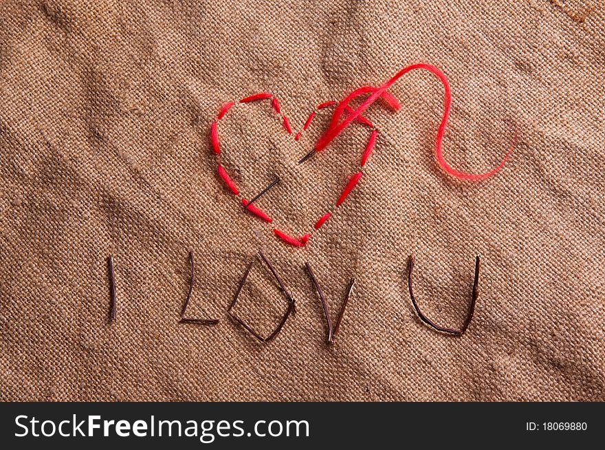 Heart from thread