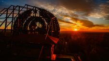 Free Sunrise Over Pripyat, Chernobyl, Aerial View Stock Image - 180676051