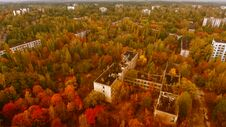 Free Aerial View Of Pripyat, Chernobyl, Beautiful Landscape Royalty Free Stock Image - 180676086
