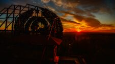 Free Aerial View, Sunrise Over Pripyat, Chernobyl Stock Image - 180676161