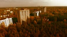 Free Aerial View Of Pripyat, Chernobyl, Beautiful Landscape Royalty Free Stock Photos - 180676198
