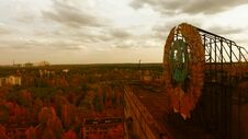 Free Aerial View Of Pripyat, Chernobyl, Beautiful Landscape Stock Photo - 180676230