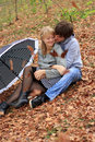Free Young Cheerful Couple In The Park Stock Photography - 18070072