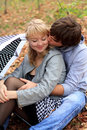 Free Young Cheerful Couple In The Park Stock Photos - 18070113