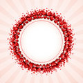 Free Valentine S Day Card With Hearts Royalty Free Stock Photos - 18076048
