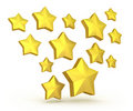Free Gold Stars Falling Stock Photography - 18077882