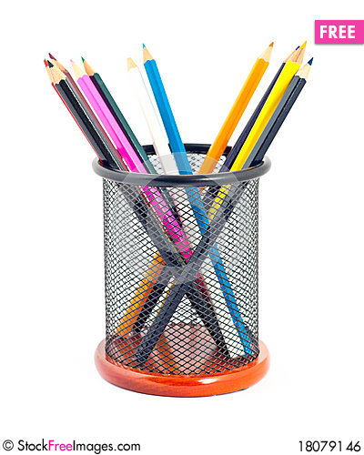 Many colorful pencils Stock Photo