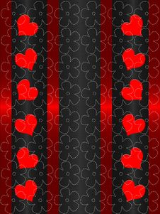 Free Red End Black Valentines Day Stock Photography - 18070182