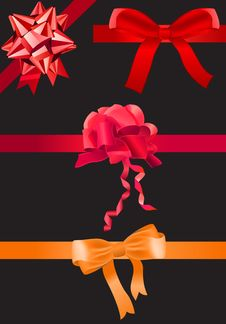Different Ribbons Royalty Free Stock Photography