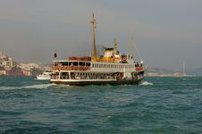 Passenger Boat In Istanbul Royalty Free Stock Image
