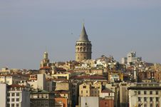Galata Tower, Istanbul Royalty Free Stock Photo