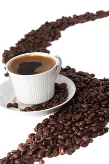 Delicious Cup Of Coffee Stock Image