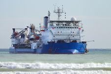 Run Aground Ship Stock Image