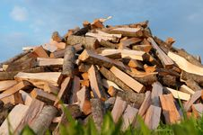 Free Pile Of Fire Wood Stock Image - 18071501