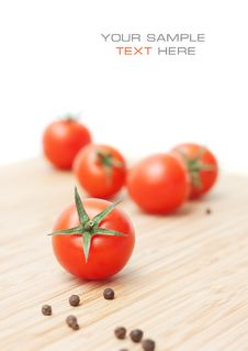 Ripe Red Cherry Tomatoes Royalty Free Stock Photography