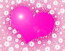 Free Heart Background Royalty Free Stock Photo - 18072585