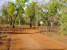 Sandy Road In The Outback Stock Photo