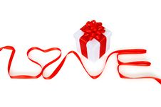Free Gift For Valantine S Day With Word Love Stock Image - 18073771