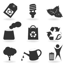 Free Eco And Environment Icon Set Royalty Free Stock Images - 18074149